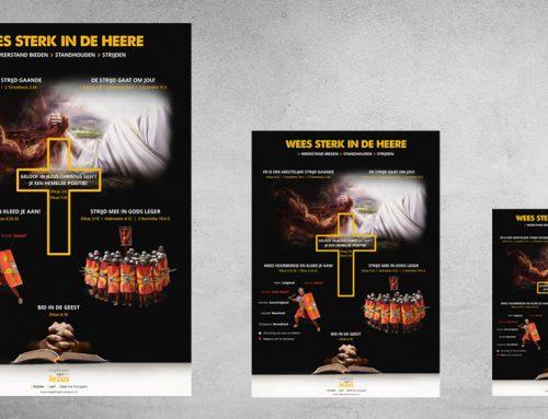 Poster: Sterk zijn in de Heere!